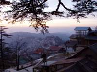 Shimla during sunset