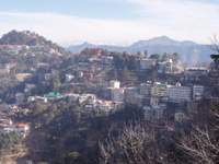 View to Shimla and Himalayas