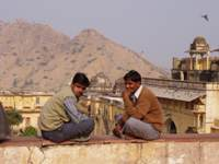 Indians on Amber fort