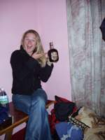 Libby and her Old Monk