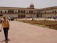 Willemijn im Agra Fort