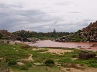 View back to Hampi